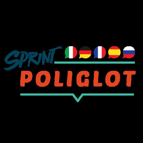 poliglot sq 600x600 - Sprint Poliglot – 5 języków: rosyjski, niemiecki, francuski, włoski, hiszpański