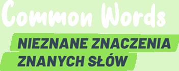 Common Words napis -  -  -