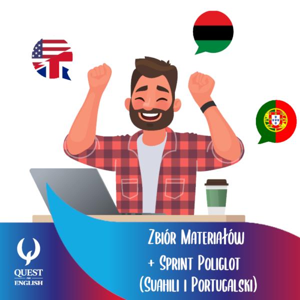 zbior materialow sprint ikona 600x600 - Sprint Poliglot: portugalski + suahili + zbiór materiałów